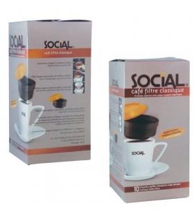SOCIAL καφές φίλτρου σε 10 ατομικές μερίδες