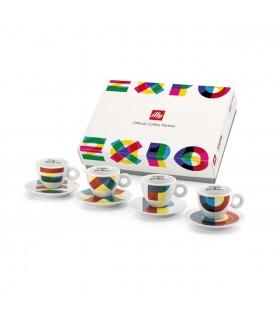 EXPO 2015 - 4 cappuccino φλιτζάνια