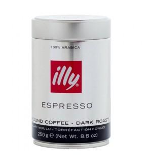 Illy Dark Roasted αλεσμένος καφές 250γρ.