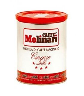 Molinari espresso καφές αλεσμένος Cinque Stelle 250γρ.