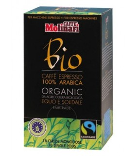 Molinari Bio, βιολογικός espresso σε χάρτινες ταμπλέτες 18τεμ.