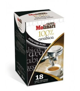 Molinari 100% arabica espresso σε χάρτινες ταμπλέτες 18τεμ.